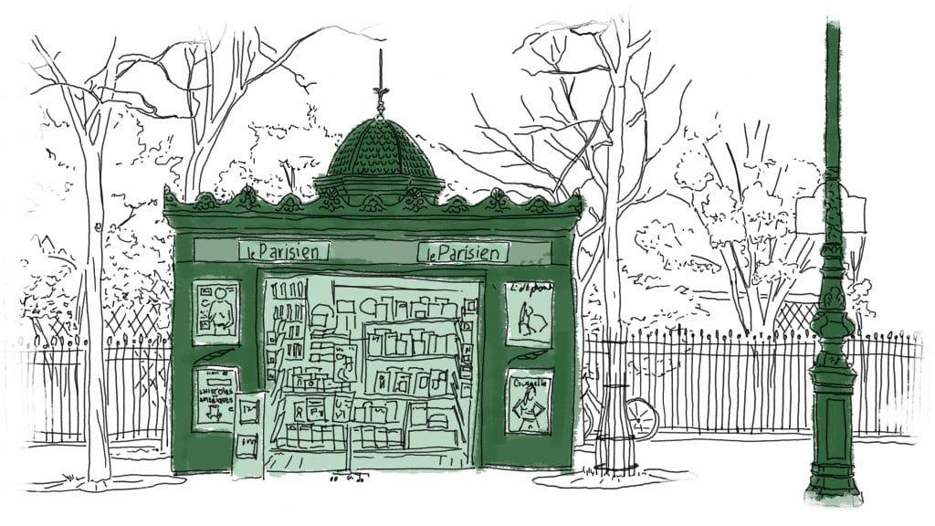 Kiosque à presse parisien - Groupe écologiste de Paris